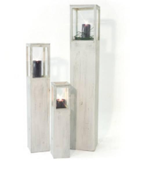 windlichtset laternen holzlaternen romantik weiss kerze. Black Bedroom Furniture Sets. Home Design Ideas