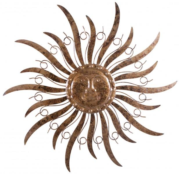 Sonne wanddeko metall metallsonne 48 cm ebay for Wanddeko balkon