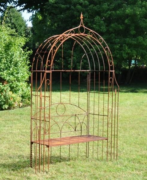 gartenbank metall mit rosenbogen 015129. Black Bedroom Furniture Sets. Home Design Ideas