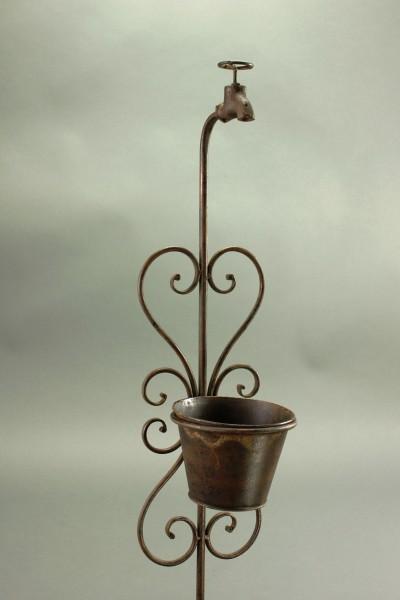 Blumentopfhalter topfhalter gartenstecker rankstab for Gartenstecker metall