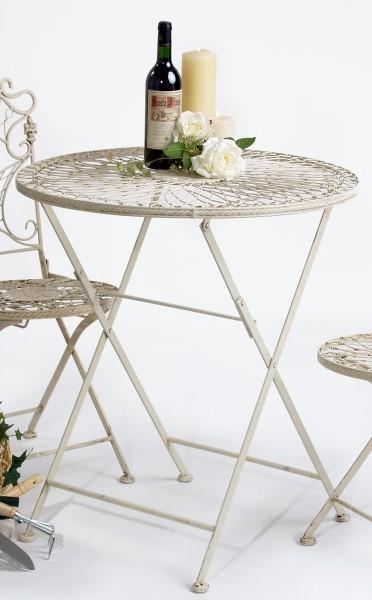 romantischer gartentisch rund aus metall metalltisch. Black Bedroom Furniture Sets. Home Design Ideas