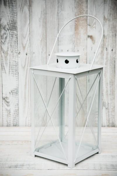 stabile stalllaterne laterne gartenlaterne wei windlicht metalllaterne ebay. Black Bedroom Furniture Sets. Home Design Ideas