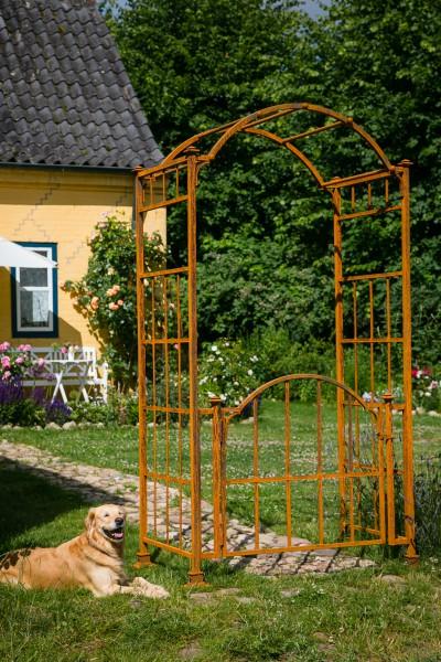 stabiler rosenbogen mit tor t r metall b ca 120 cm t. Black Bedroom Furniture Sets. Home Design Ideas