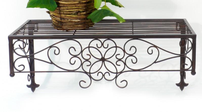 wandregal 49cm x 23cm aus metall gew rzregal k chenregal eisen metallregal ebay. Black Bedroom Furniture Sets. Home Design Ideas