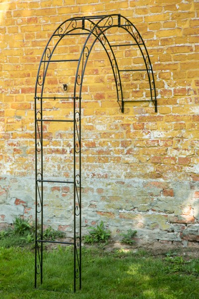 wand rosenbogen metall rund b 160cm schwarz. Black Bedroom Furniture Sets. Home Design Ideas