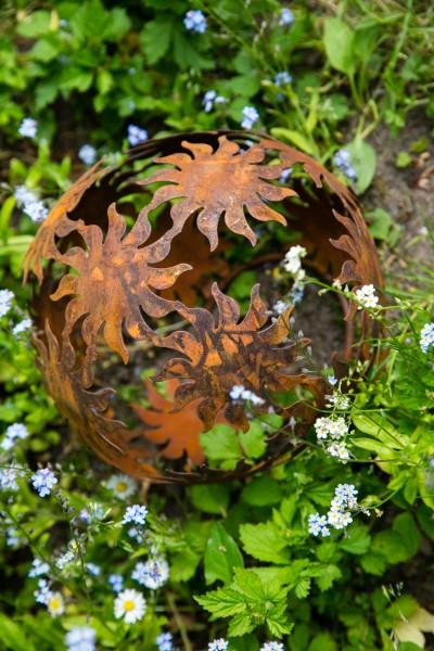 Dekokugel rost 22cm sonne deko kugel gartenkugel for Garten dekokugel
