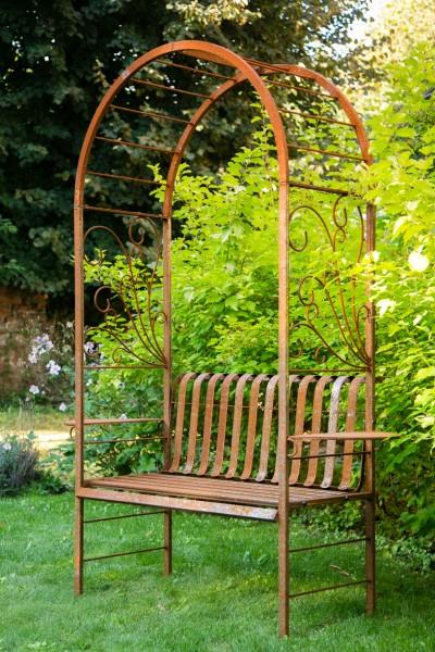 laubenbank rost rosenbogen mit bank. Black Bedroom Furniture Sets. Home Design Ideas