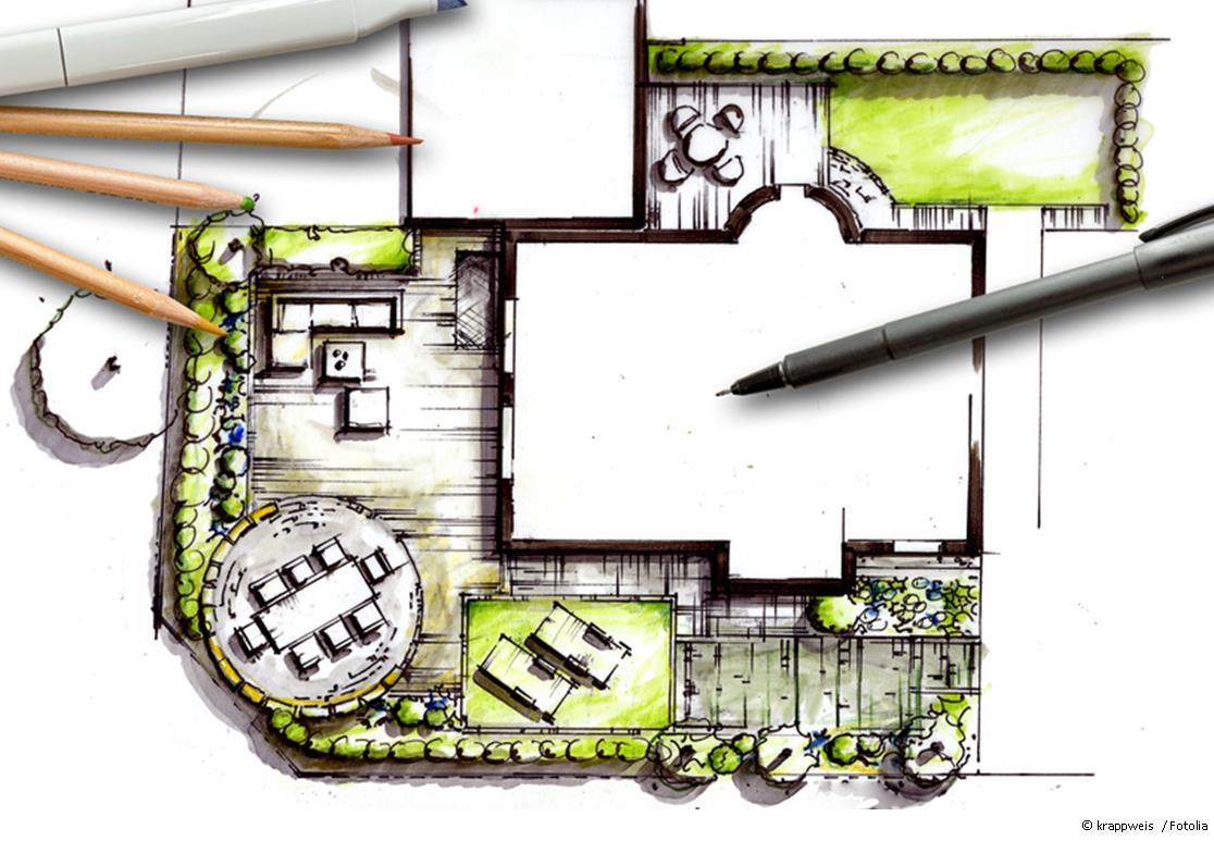 Bei der Gestaltung des Gartens ist Planung sehr wichtig