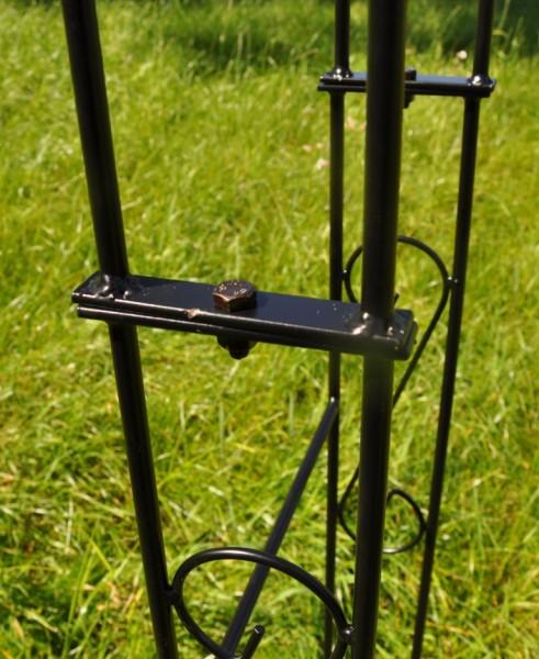 rosenbogen metall b 160cm schwarz mit spitze. Black Bedroom Furniture Sets. Home Design Ideas