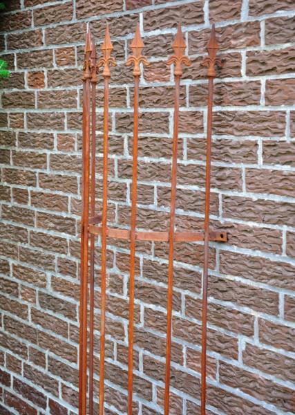 rankgitter metall halbrund f wand 180cm rost. Black Bedroom Furniture Sets. Home Design Ideas