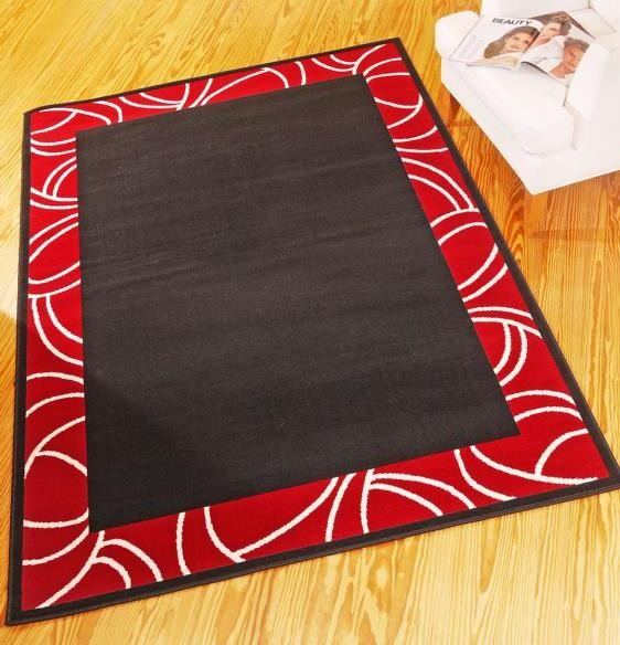 teppich ariba schwarz rot. Black Bedroom Furniture Sets. Home Design Ideas