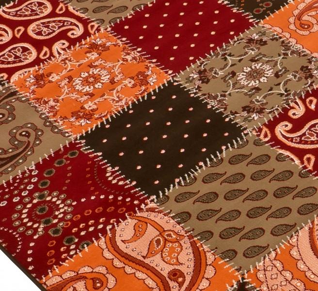 Teppich Patchwork braun