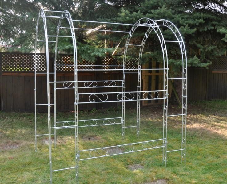 laubengang rund 200cm breite metall verzinkt. Black Bedroom Furniture Sets. Home Design Ideas