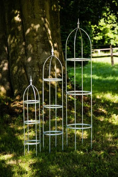 3er set rankhilfe metall zink for Rankhilfe obelisk metall