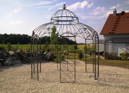 gartenpavillon metall romantik verzinkt pulverbeschichtet 340cm. Black Bedroom Furniture Sets. Home Design Ideas