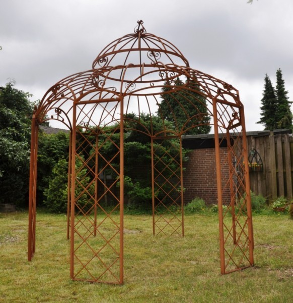 gartenpavillon metall 290cm romantik verzinkt farbe. Black Bedroom Furniture Sets. Home Design Ideas
