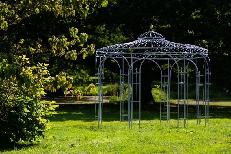 gartenpavillon metall verzinkt farbe 250cm eleganz