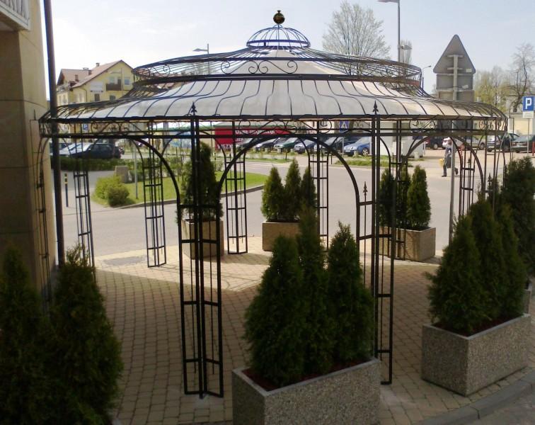 Gartenpavillon Metall Verzinkt Ø 550cm Eleganz