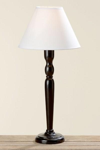 tischlampe mit holzfuss und schirm sarat. Black Bedroom Furniture Sets. Home Design Ideas